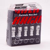 Комплект гаек (секретки) Volk Racing M09-1/Cba Конус (M12x1.25x45) Хром/Черные шляпки