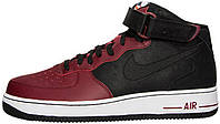 Мужские кроссовки Nike Air Force 1 Mid 07 Black Team Red, найк аир форс