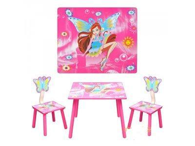 Детский стол и 2 стульчика  Winx D11551