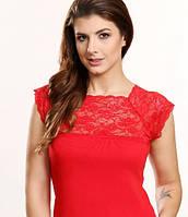 Виола красная блузка хлопок трикотаж