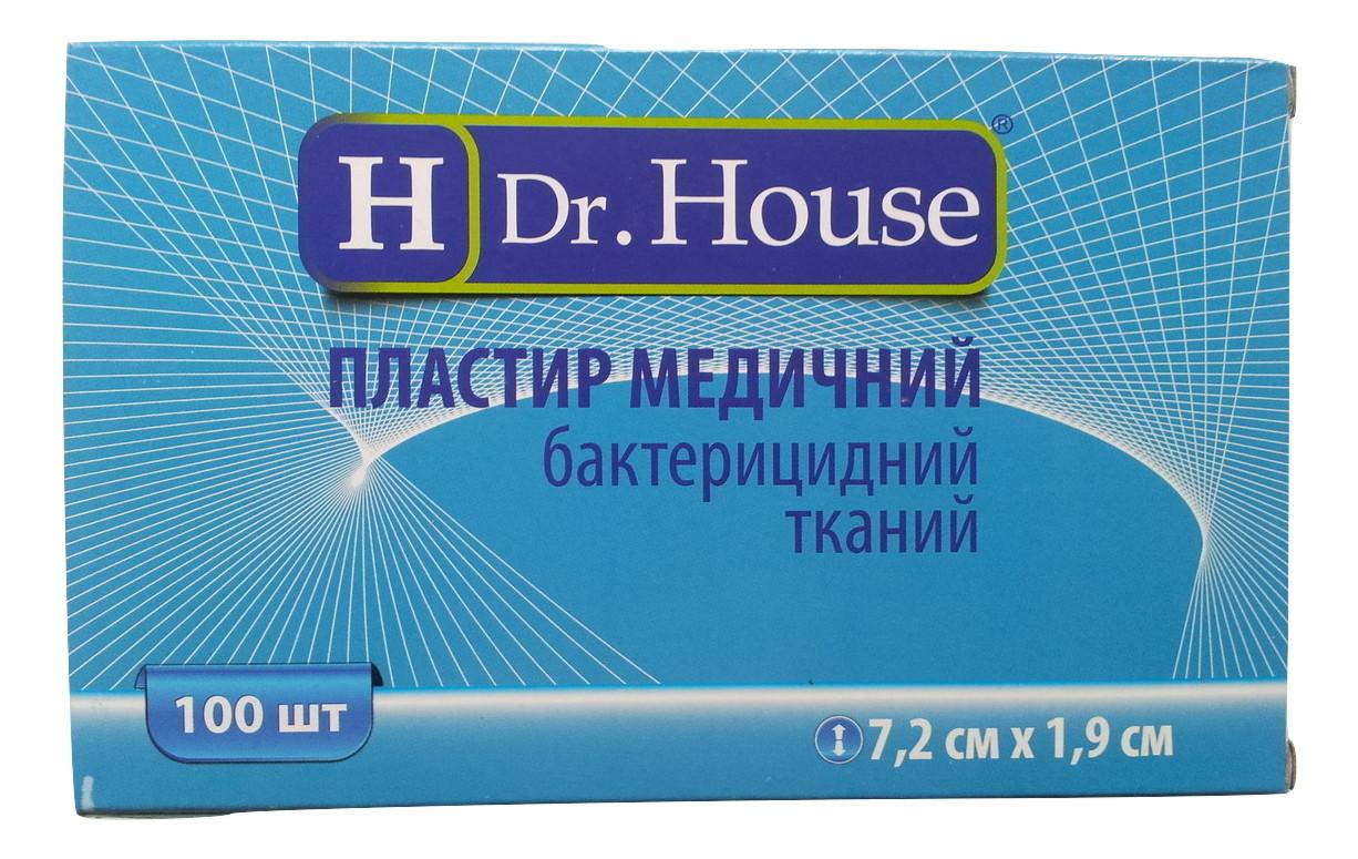 Лейкопластырь Dr.House бактерицидный тканевая основа 7,2*1,9 см