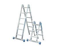Комбинированная шарнирная лестница Stabilo KRAUSE (2х3+2х6)