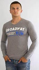 Мужская футболка с длинным рукавом Broadway серая