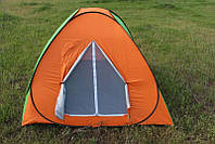 Палатка самораскладывающаяся (2,0 х 2,0 х 1,35м), туристическая палатка четырехместная