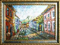 Картина пейзаж «Вид на замковую гору» картины для интерьера купить, картины маслом пейзажи