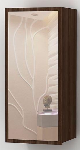 Шкаф навесной с зеркалом Альфа