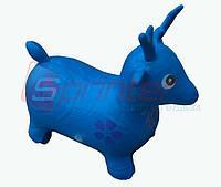 Надувная игрушка-попрыгунчик олень  (синий)