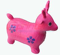 Надувная игрушка-попрыгунчик олень (розовый)
