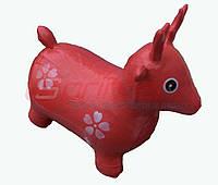 Надувная игрушка-попрыгунчик олень (красный)