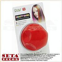 Цветная пудра для волос красная большая (цветные тени для волос)