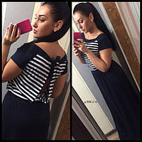 Платье длинное морячка д 996.3 гл