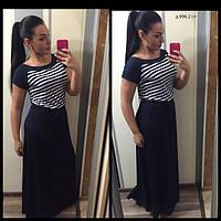 Платье длинное морячка больших размеров д 996.2 гл