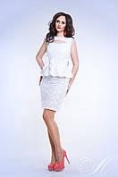 Платье Стильное Летнее прошва открытое улыбкой декольте цвет белый