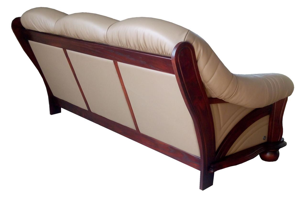 """Кожаный диван """"Hammer"""" (кожаная задняя стенка)"""