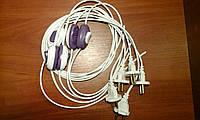 Шнур с переключателем для торшеров и бра 4А 220В 1.2м(шнур белый,выкл.цветной)