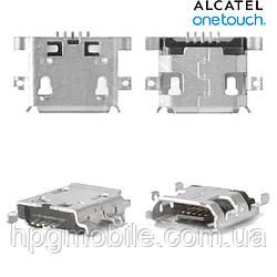 Коннектор зарядки для Alcatel 5020, 6030, 6032, 70470, 7041, оригинал