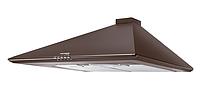 Pyramida Basic Casa 60 brown (600 мм.) купольная кухонная вытяжка, без декоративного кожуха, коричневая эмаль, фото 1