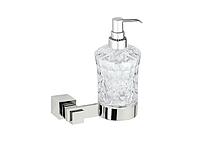 Дозатор для жидкого мыла KUGU С5 514  (латунь, хром, стекло)(Бесплатная доставка  )