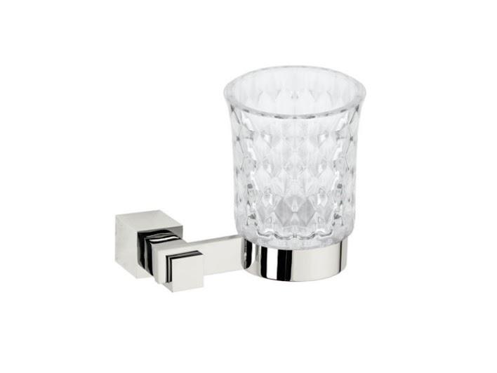 Стакан для зубных щеток KUGU С5 506 (латунь, хром, стекло)(Бесплатная доставка  )