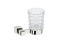 Стакан для зубных щеток KUGU С5 506 (латунь, хром, стекло)(Бесплатная доставка Новой почтой)
