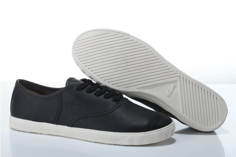 Мужские мокасины Lacoste Old School Black Leather