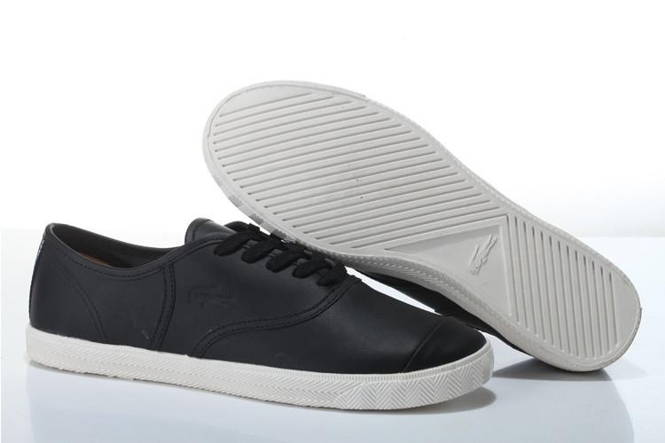 Мужские мокасины Lacoste Old School Black Leather - Интернет магазин обуви  «im-РоLLi» 3e53b316372
