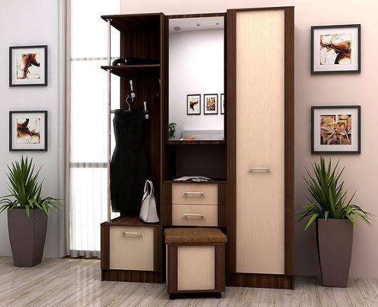 Шкаф распашной Альфа в комплекте с прихожей Альфа