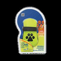 Расческа-щетка резиновая FURminator 691036 /140870, для короткой и средней шерсти собак