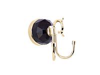 Крючок двойной KUGU Diamond 1110G (латунь, золото)(Бесплатная доставка Новой почтой)