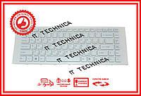 Клавиатура Sony Vaio VPC-EA белая с белой рамкой
