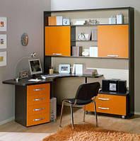 Компьютерный стол со стенкой на заказ