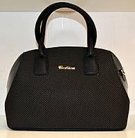Женская сумка бочонок с принтом