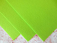 Фетр корейский жесткий 1.2 мм, 20x30 см, САЛАТОВЫЙ