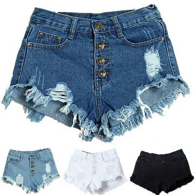 Шорты женские джинсовые (синие)