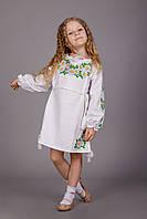 Вышитое детское платье с ромашками, фото 1