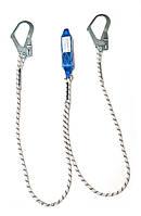 Двойной строп с амортизатором и двумя большими карабинами, фото 1