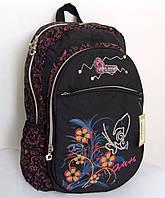 Рюкзак для девочек, черный с рисунком, Хмельницкий