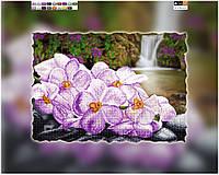 """Схема для вышивки бисером на подрамнике (холст) """"Сиреневая орхидея"""""""