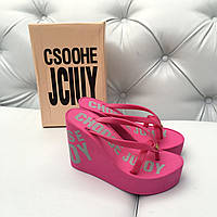 Шлепанцы на платформе Choose Juicy Couture розовые