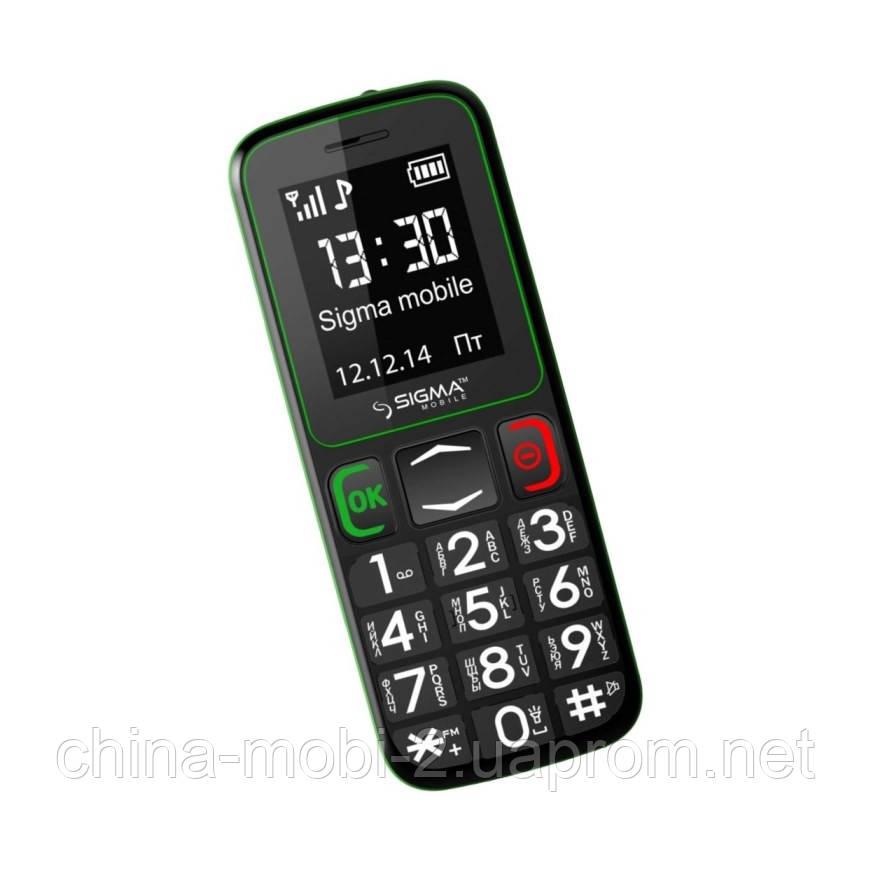 Телефон Sigma Comfort 50 mini 3 Black-Green (бабушкофон) '5