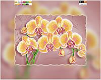 """Схема для вышивки бисером на подрамнике (холст) """"Желтая орхидея"""""""