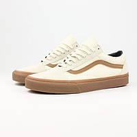 Мужские кеды Vans OLD SKOOL Classics Gum Sidestripe White