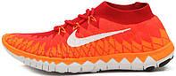 Женские кроссовки Nike Free Flyknit 3.0 Fire Orange, найк фри ран