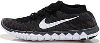 Мужские кроссовки Nike Free Flyknit 3.0 Black, найк фри ран