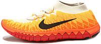 Женские кроссовки Nike Free Flyknit 3.0 Volt Laser Orange, найк фри ран