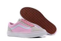Женские кеды Vans OLD SKOOL Classic Gray/Pink