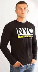 Мужская футболка с длинным рукавом NYC черная