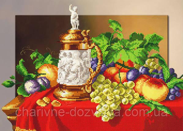 """Схема для вышивки бисером на подрамнике (холст) """"Осенний натюрморт"""", фото 2"""