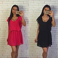 Шифоновое платье в расцветке н-40416