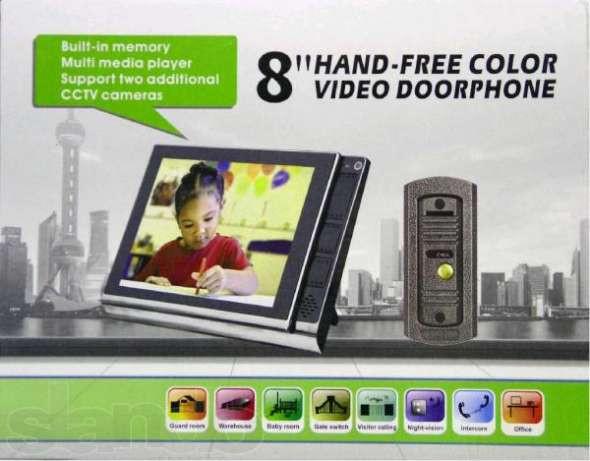 Кольоровий ультратонкий 8 дюймовий широкоекранний відеодомофон